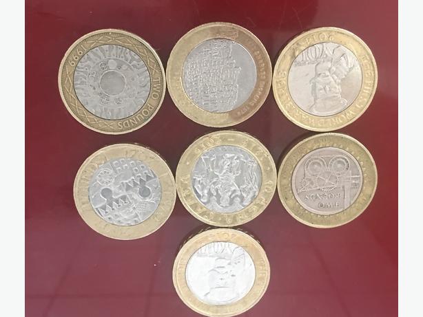 rare coins 50p 2 pound ...............