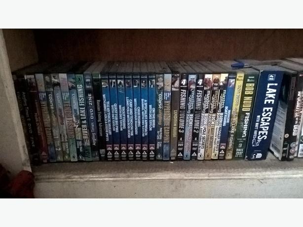 massive collection of fishing DVD