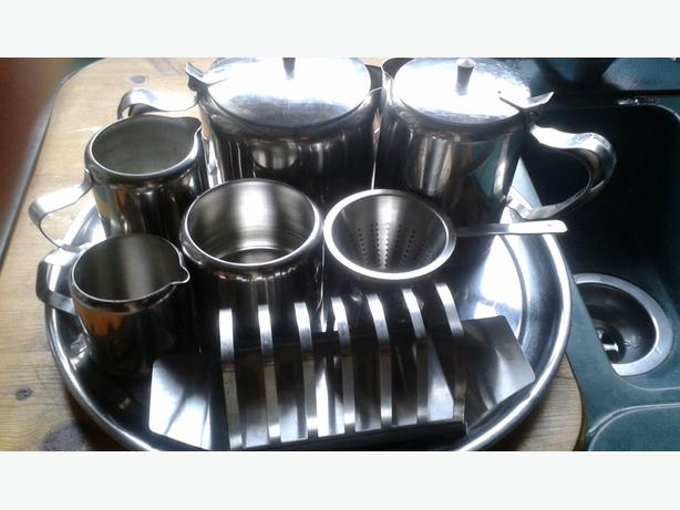 stainless steel breakfast set