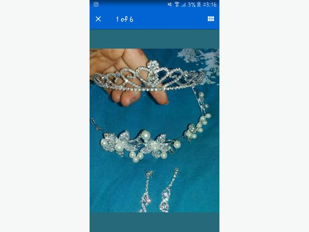 tiara and earings set
