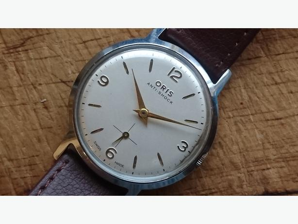 VINTAGE 1960S SWISS ORIS ANTI SHOCK MENS WIND UP WATCH GWO