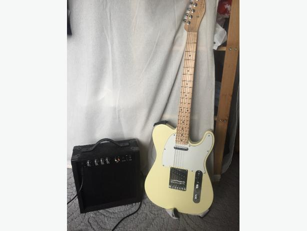 Squire Telecaster Electric Guitar and Amp