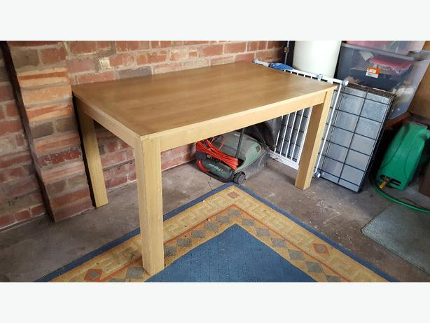 Next dining table oak effect