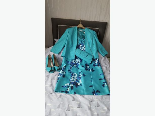 Jacques Vert flower print dress and jacket Size 14