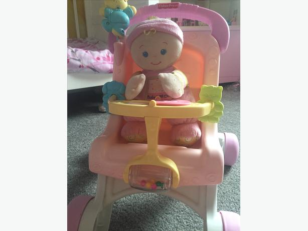 Fisher price push along stroller