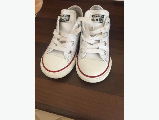white leather childrens converse