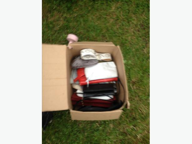 Box of handbags