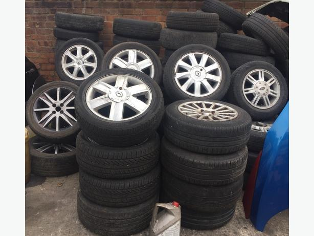 "RENAULT ALLOYS & TYRES - SETS OF 4 16"" £80 PER SET 205/55/16 205/50/16"