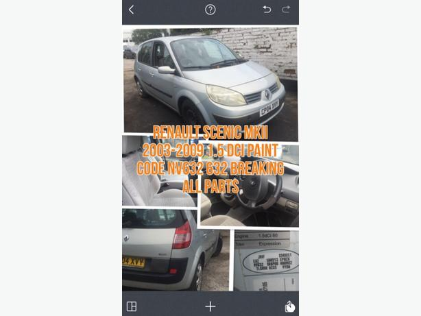 RENAULT MEGANE SCENIC II SCENIC II 03-09 BREAKING ALL PARTS AVAILABLE