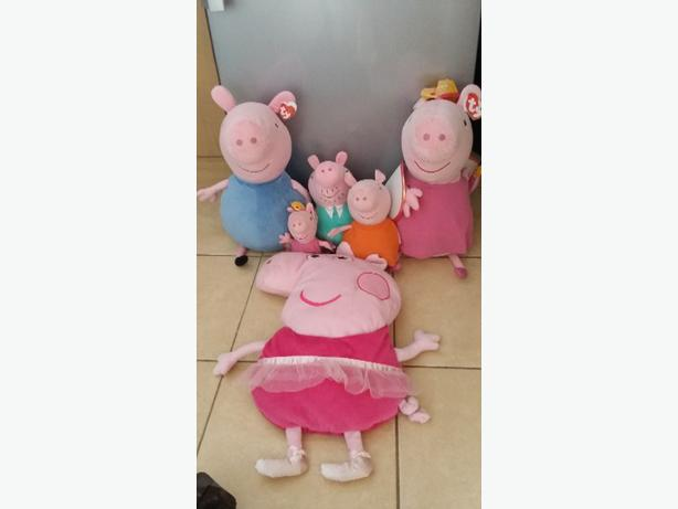 ty peppa pig teddies and canvas prints