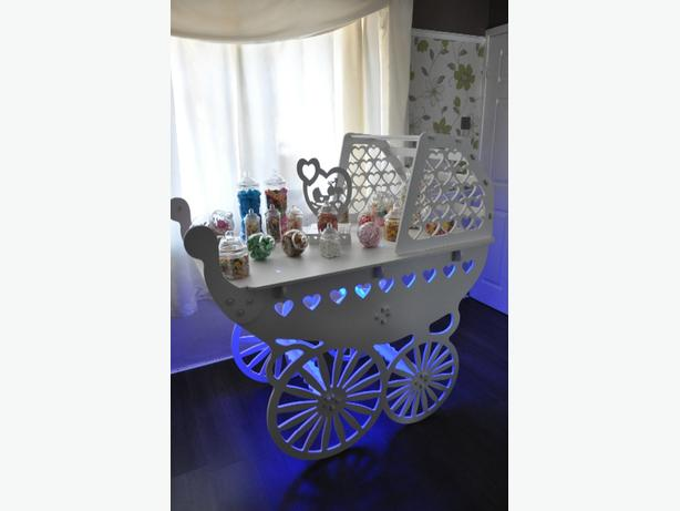 christening pram candy cart for hire west Mlds area
