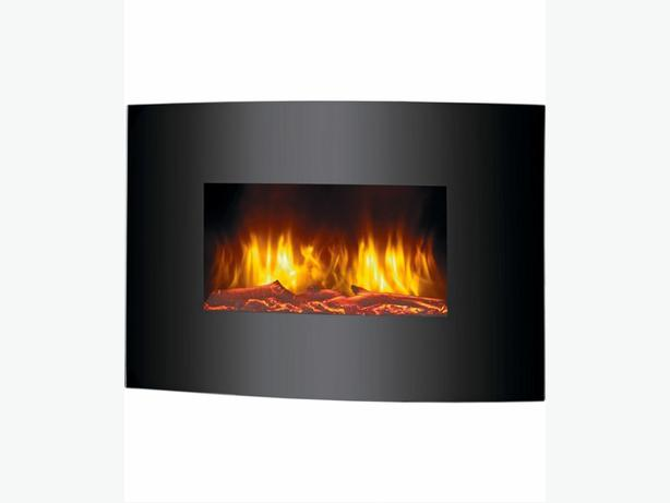 Electric curved fire