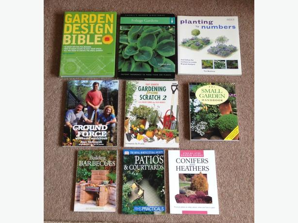 Assorted gardening books