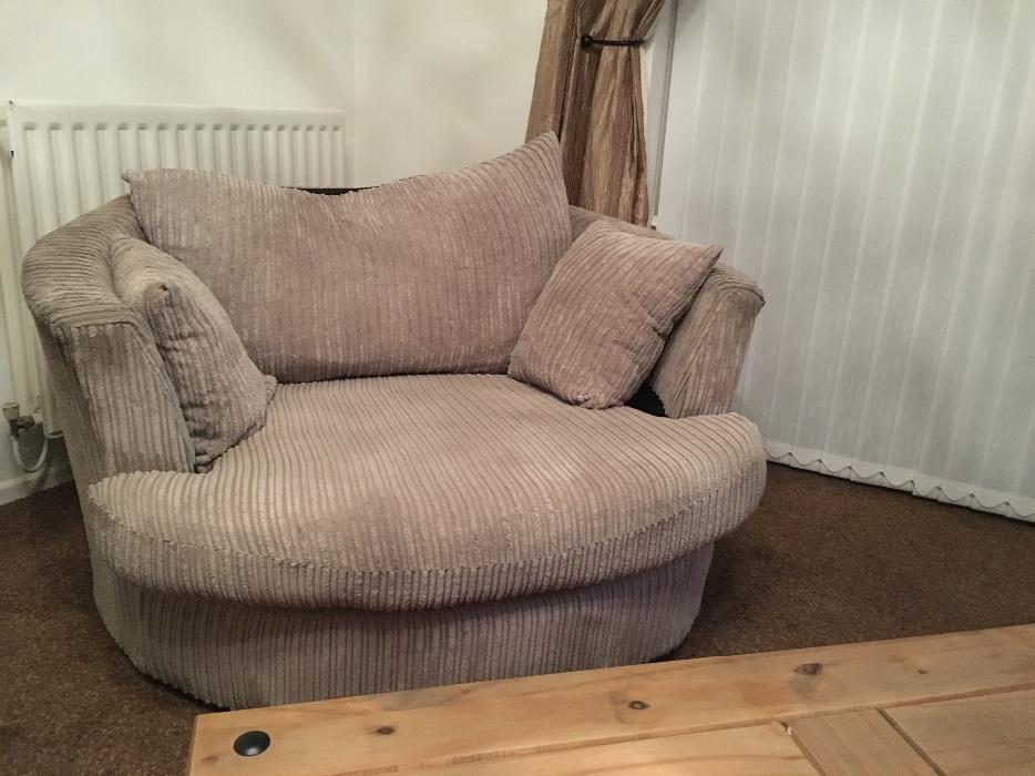 Corner sofa and swivel chair walsall dudley for Sectional sofa swivel chair