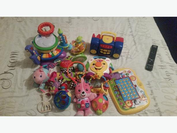Black bag of babies toys