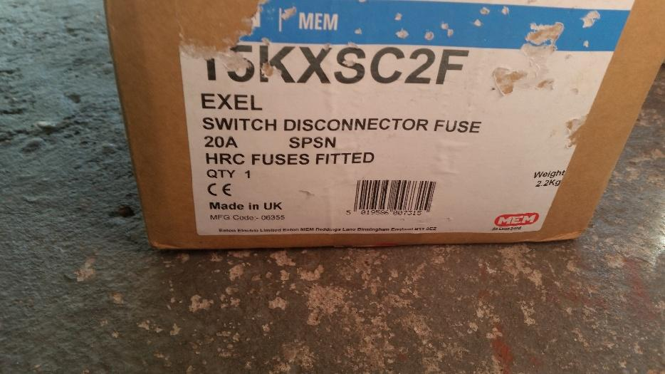 new switch disconnector fuse bloxwich  wolverhampton