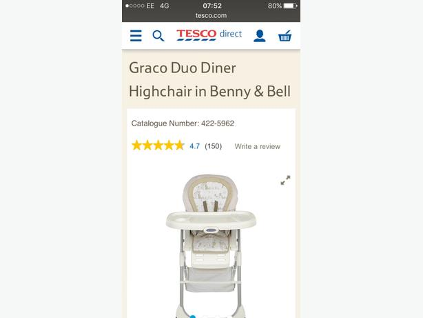 Graco duo dinner high chair in benny and bell.
