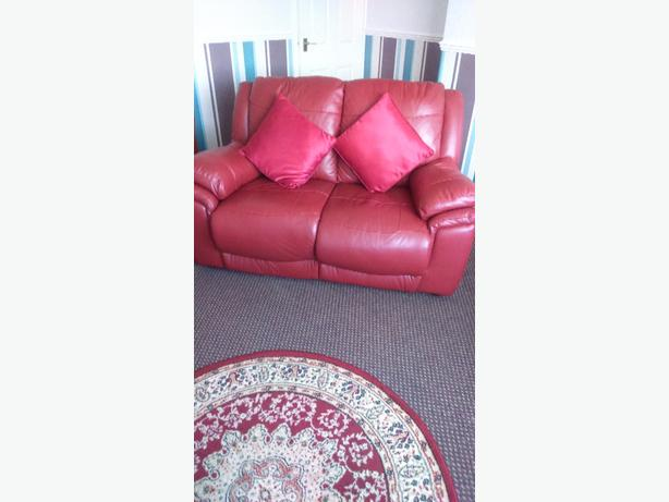 3 Piece Suite - 2 seater sofa and 2 reclining arm chairs