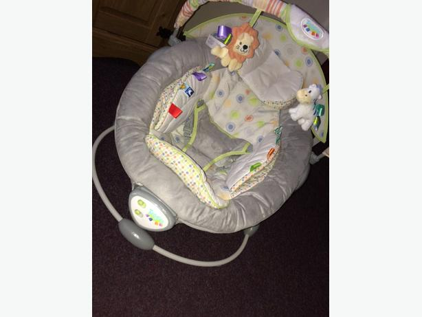Taggies musical baby bouncer/vibrating chair