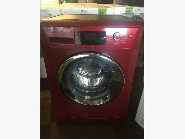 WOW !! LOVELY RED BEKO LCD 9KG/1400 SPIN WASHING MACHINE WITH GUARANTEE