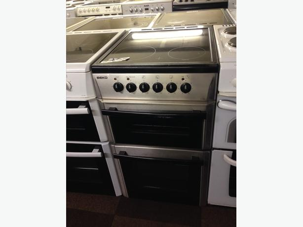 BEKO SILVER BLACK 50 CM WIDE ELECTRIC COOKER WITH GUARANTEE