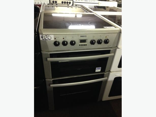 BEKO 60  CM WIDE SILVER ELECTRIC COOKER WITH GUARANTEE
