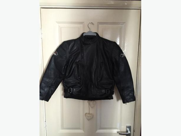 childrens leather targa motorbike jacket
