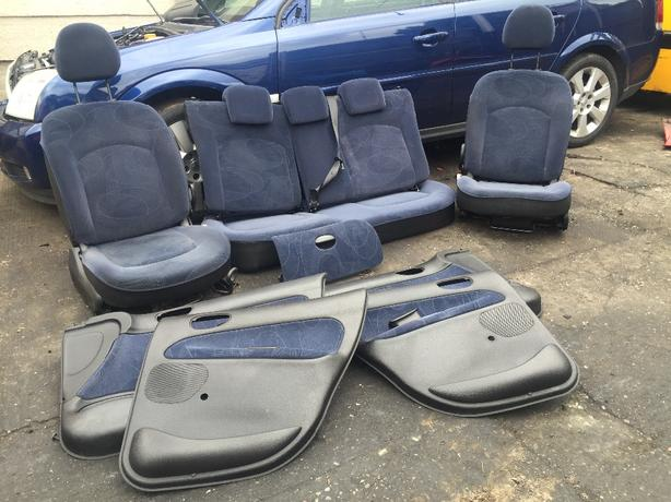 PEUGEOT 206 INTERIOR SEAT DOOR CARDS + GLOVE BOX 5DR 98-05 NO RIPS/STAINS