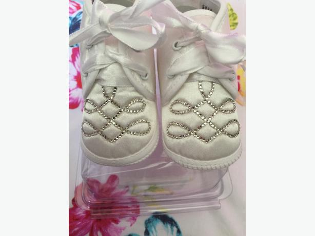 brand new boys swarovoski booties 3-6 months