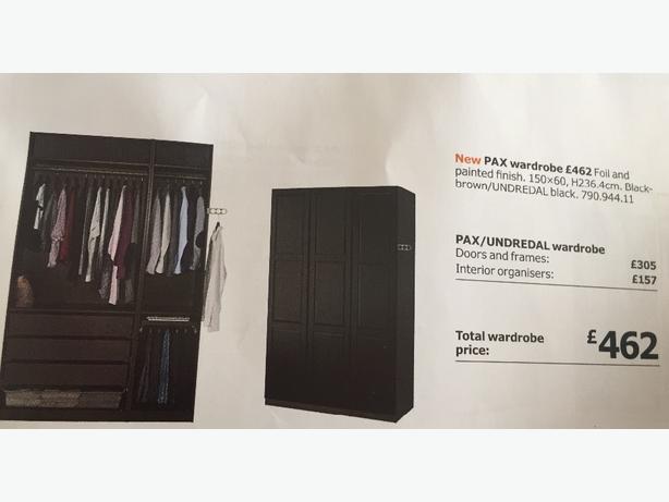 ikea pax wardrobe set
