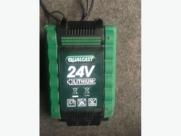 24v lithium qualcast battery new