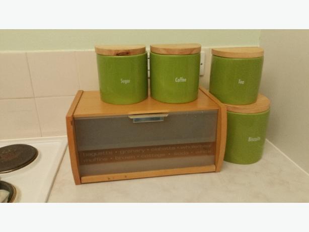 Tea coffee sugar biscuit tin & bread  bin