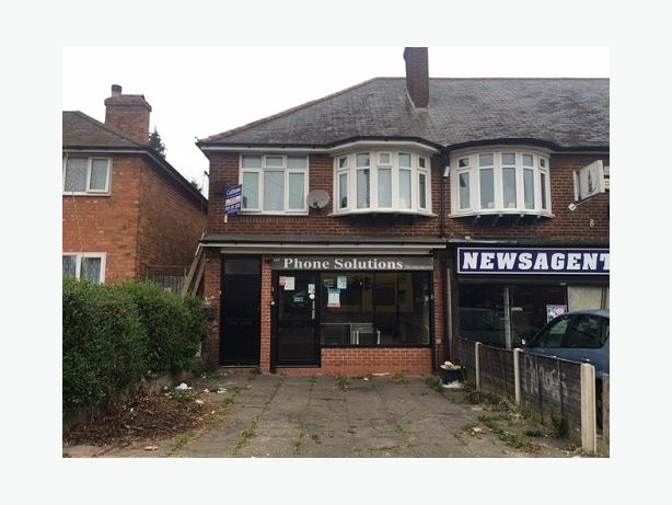 *B.C.H*-FOR SALE-School Road, YARDLEY WOOD-Commercial Office & 2 bedroom flat