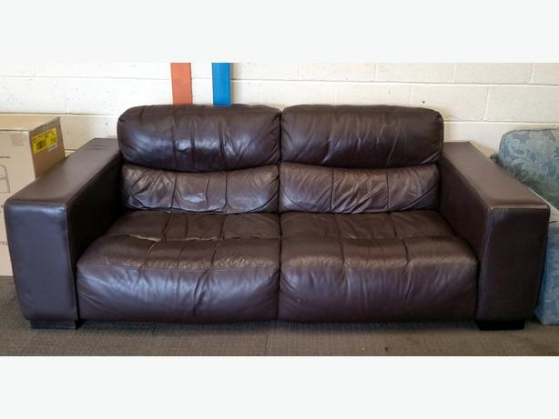 LARGE BROWN LEATHER SOFA - EXTREMELY COMFORTABLE!