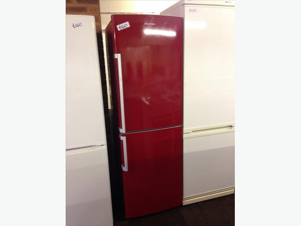 LOVELY RED RUSSELL HOBBS FRIDGE FREEZER WITH GUARANTEE
