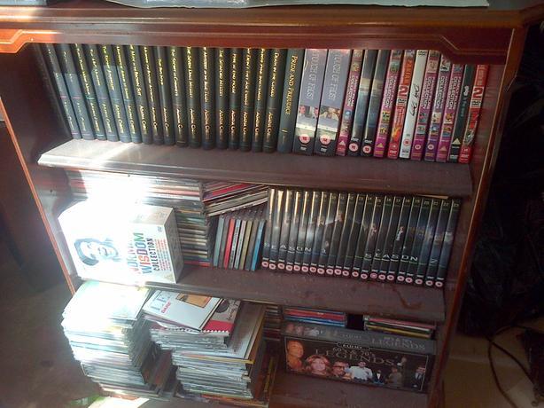 dvd/book shelf wooden