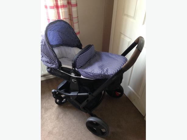 Mothercare Xpedior Blue Stripe Travel System