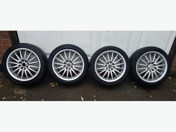 Set of 4 alloy wheels 15 inches multi stud multi spoke will fit more 4 stuff car