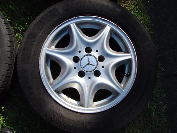Genuine Mercedes c class alloys with almost new tyres