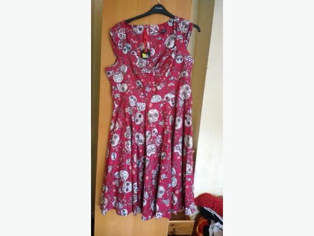 womens gothic skull dress still with tags