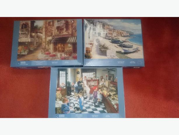x3 whsmith 1,000 piece jigsaw puzzles £2each or all x3 for £5