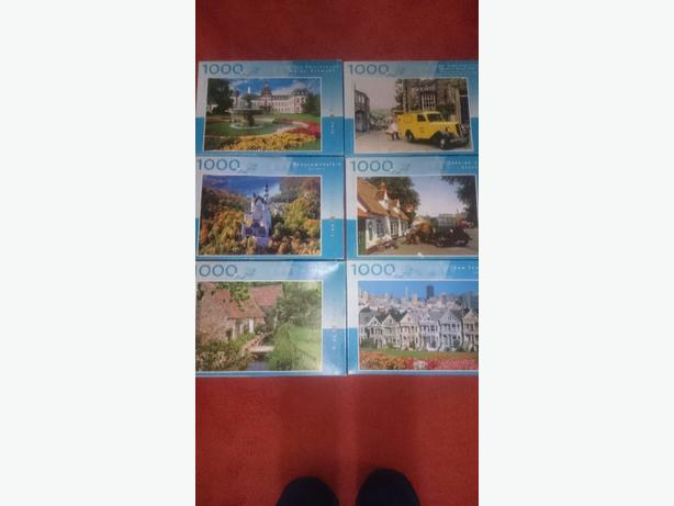 x6 1000 piece jigsaw puzzles  £1.50 each or all x6 for £7.50