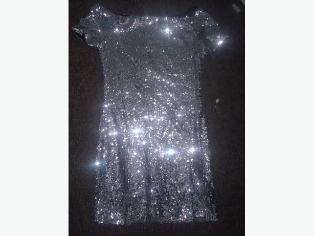 Sequin silver dress