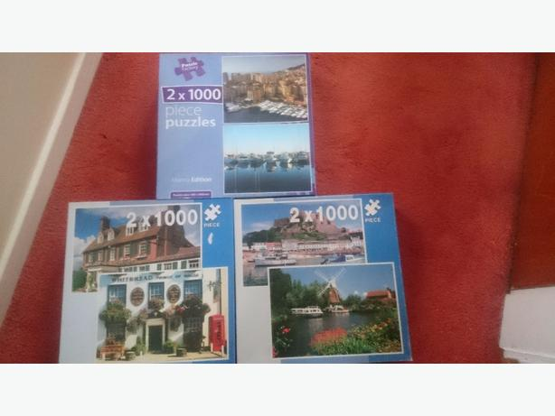 x3 boxes x2 in each box 1000 piece  jigsaw puzzles £3 each only
