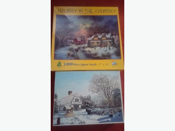 x2 1000 piece jigsaw puzzles £1.50each or both for £2.50