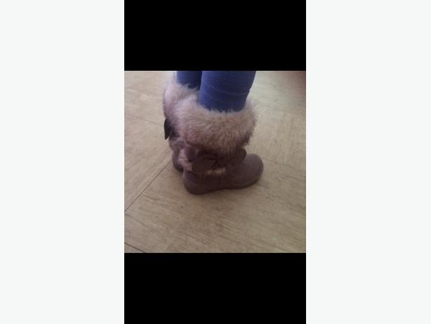size 7 girls infant fur boots