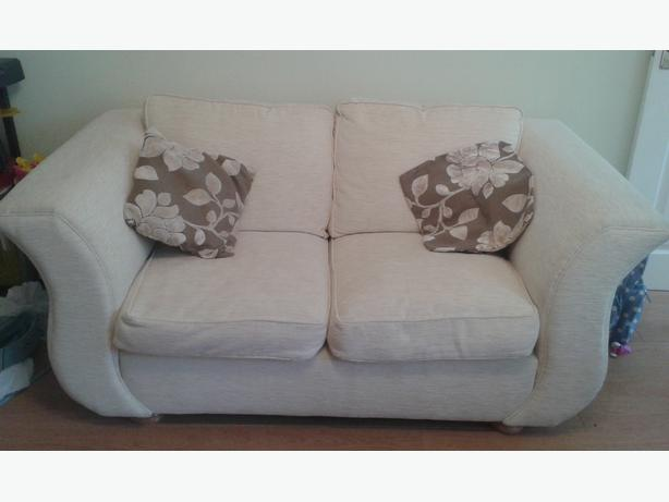 Cream Fabric Sofa Excellent Condition from DFS