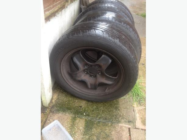 vauxhall 5 stud wheels -tyres205-55-16