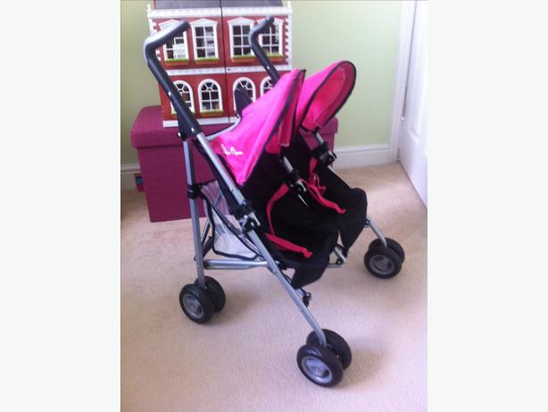 Silver cross double dolls buggy