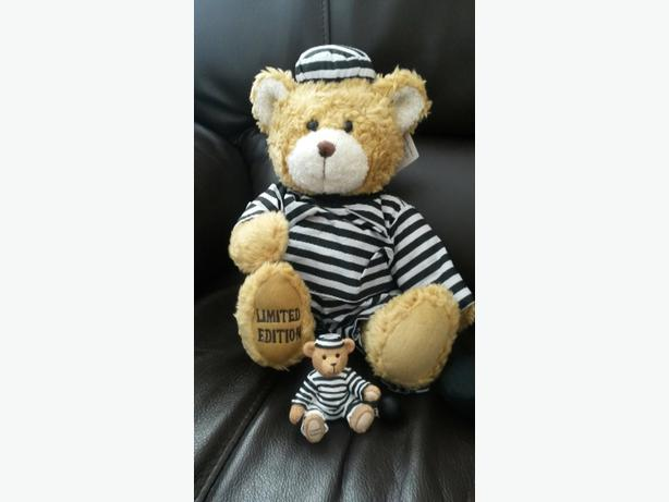 Metro Prison Teddy Bear with Matching Ornament